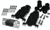 9 pin-HD Male Connector and Right Angle Hood Assembly - Crimp Type -- CVD 0104-9DB