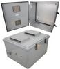 18x16x10 Polycarbonate Weatherproof Outdoor IP24 NEMA 3R Enclosure, 120 VAC MNT PLT Vented Lid DKGY -- TEPC181610-10V