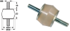 Double Studded Barrel Silicone Gel Dampers (metric) -- A10Z61MMN10 -Image