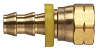 Brass Push-on Fitting - Female SAE 45 Degree Swivel -Image