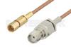 SMA Female to SSMC Plug Cable 48 Inch Length Using RG178 Coax -- PE3C4393-48 -Image