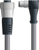 LAPP UNITRONIC® Devicenet™ Thin Extension Cordset - 5 positions female 7/8 inch straight to 5 positions male M12 90° - Continuous Flex - Gray PVC - 2m -- OLFDN4110032F02 -Image