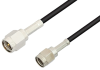 SMA Male to Reverse Polarity SMA Male Cable 48 Inch Length Using RG174 Coax, RoHS -- PE34331LF-48 -Image