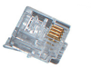 100-Pack RJ11 4-Wire Modular Connector for Stranded Wire -- FM020-100PAK -- View Larger Image