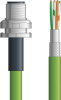 LAPP ETHERLINE® Ethernet Single-Ended Cordset: 4 Pair CAT6A - 8 position male M12 bulkhead connector to Wire Leads - Green Polyurethane (PUR) - C6A010S05 - 5m -- OLFC6A010S05 -Image