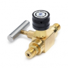 Block & bleed valve - male Quick-test inlet x male Quick-test outlet, brass -- QTHA-BLB0-HH
