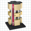 Vises with Quick-Change Machinable Jaws -- Four-Sided Hydraulic Tower Clamping