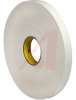 Double Coated Polyethylene Foam Tape 4466W White 1 in x 36 yd 1/16 in -- 70113108 - Image
