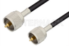 UHF Male to UHF Male Cable 60 Inch Length Using 75 Ohm RG59 Coax -- PE3580-60 -Image