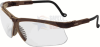 Uvex Genesis Safety Glasses with Earth Frame and Clear Lens -- S3220