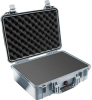 Pelican 1500 Case with Foam - Silver | SPECIAL PRICE IN CART -- PEL-1500-000-180 - Image