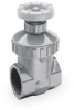 Gate Valve,1 1/4 In,PVC,Socket,Buna-N -- 4GXP3