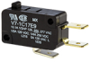 MICRO SWITCH V7 Series Miniature Basic Switch, Single Pole Double Throw Circuitry, 15 A at 277 Vac, Pin Plunger Actuator, 1,47 N [5.3 oz] Maximum Operating Force, Silver Contacts, Quick Connect Termin -- V7-1C17E9 -Image