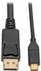 USB 3.1 Gen 1 USB-C to DisplayPort 4K Adapter Cable (M/M), Thunderbolt 3 Compatible, 4K @60Hz, 10 ft. -- U444-010-DP - Image