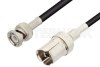 GR874 Sexless to BNC Male Cable 72 Inch Length Using RG223 Coax -- PE3182-72 -Image