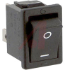 Switch, Snap-In POWER Rocker, DPST, ON-NONE-OFF, BLACK CAP, QUICK CONNECT -- 70191995