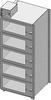 Desiccator Cabinet -- CAP19S-SST-5DR-SGL-18Wx10Hx18D-3B - Image