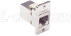 Cat3 RJ45 Coupler Shielded (8x8) Panel Mount Style -- ECF504-SC3
