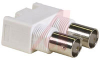 CONNECTOR,RF COAXIAL,DUAL BNC RIGHT ANGLE JACKS,WHITE 50 OHM -- 70000517
