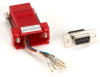 DB9 Colored Modular Adapter (Unassembled), Female to RJ-45, 8-Wire, Red -- FA4509F-RD
