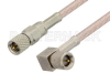 10-32 Male to 10-32 Male Right Angle Cable 48 Inch Length Using RG316 Coax, RoHS -- PE36530LF-48 -- View Larger Image