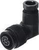 Angled plug socket -- MPPE-3-B - Image
