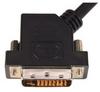 DVI-D Dual Link LSZH DVI Cable Male / Male 45 Degree Left, 5.0 ft -- DVIDDLZ-45-5 -Image