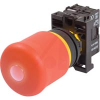 PUSHBUTTON, ILLUMINATED EMERGENCY STOP,RED PUSH-PULL BUTTON & RED 12-30V AC/DC -- 70057817