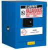 Justrite Chemcor 4 gal Blue Hazardous Material Storage Cabinet - 17 in Width - 22 in Height - 697841-15453 -- 697841-15453