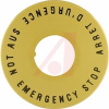Switch, TH8 Series, Emergency Stop,Yellow Plastic Background Disk, -- 70162581