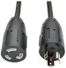 Heavy-Duty Power Extension Cord, 20A, 12AWG (NEMA L5-20P to NEMA L5-20R), Locking Connectors, 10 ft. -- P046-010-LL