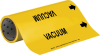 Brady B-946 Black on Yellow Vinyl Self-Adhesive Pipe Marker - 12 in Height - 30 ft Length - Printed Msg = VACUUM with Left Arrow - 15596 -- 754476-15596 - Image