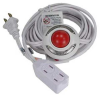 Lighted Foot Switch with 9ft 3 Outlet Cord -- 2150-SF-35