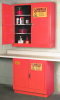 Flammable Liquid Safety Storage Manual Close Cabinet -- CAB124-RED