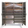 Stainless Steel Double Shift Cabinet with Drawers -- 56-DS-246-10DB-SS