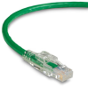 TAA GigaTrue 3 CAT6 550-MHz Patch Cable (UTP), Lockable, Slimline, Green, 15-ft. (4.5-m) -- C6PC80-GN-15