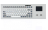 Industrial TKG Panel Mount Keyboard In Silver Look with Silicone Keys and Touchpad -- TKG-083b-TOUCH-MODUL