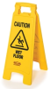 Rubbermaid 2 and 4-Sided Floor Signs with Multi-Lingual Imprints -- 8069 -- View Larger Image