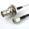 SMA Male (Plug) to BNC Female (Jack) Bulkhead Cable RG-316 Coax Up To 3 GHz in 60 Inch -- FMC0238315-60 -Image