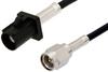 SMA Male to Black FAKRA Plug Cable 12 Inch Length Using PE-C100-LSZH Coax -- PE39342A-12 -Image