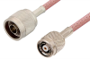 N Male to Reverse Polarity TNC Male Cable 24 Inch Length Using RG142 Coax, RoHS -- PE34573LF-24 -Image