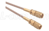 RG316 Coaxial Cable, SMC Plug / Plug, 2.0 ft -- CCSC316-2