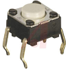 Switch,FLUX TIGHT MECHANICAL KEYSwitch,,50MA@24VDC,NO GROUND TERM., FLAT PLUNG -- 70176104 - Image