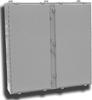 Powder Coated Steel Wallmount Two Door Single Access Enclosu -- F-424812N4-TDW