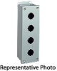 10 x 3 x 3 inch (HxWxD) NEMA 12 Pushbutton Enclosure, 1x4 layout,... -- PB4 - Image