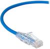 Slim-Net 28-AWG CAT6A 500-MHz Ethernet Patch Cable (UTP) - PVC, Snagless, Blue, 3 ft. -- C6APC28-BL-03