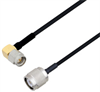 SMA Male Right Angle to TNC Male Cable Assembly using LC085TBJ Coax, 4 FT -- LCCA30624-FT4 -Image