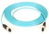 10-GbE, OM3, MPO Fiber Optic Cable, 50-Micron, 12-Strand, Aqua, 30-m -- MTP-MTP-030M-10G