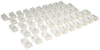 Cat5e RJ45 Modular In-Line Connectors for Stranded Cat5e Cable, 50-Pack, TAA -- N031-050