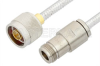 N Male to N Female Cable 12 Inch Length Using PE-SR401FL Coax, RoHS -- PE34293LF-12 -Image